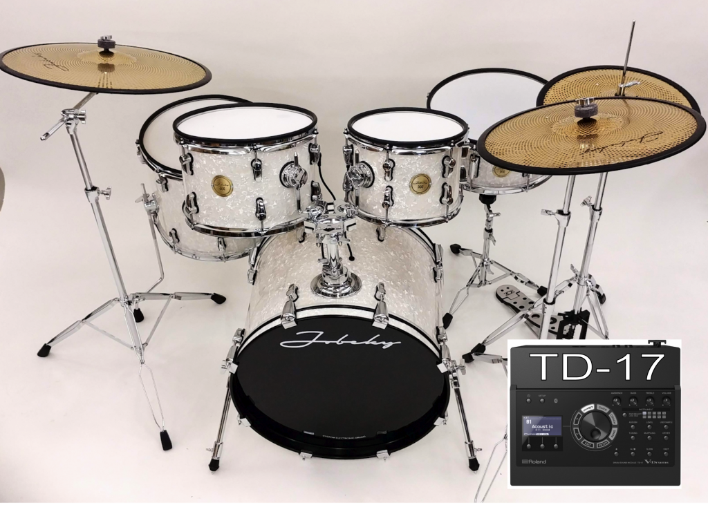 new jobeky roland td 17 compact pro electronic drum kit jobeky drums electronic drums. Black Bedroom Furniture Sets. Home Design Ideas
